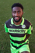 Forest Green Rovers Manny Monthe(3) during the Vanarama National League match between Wrexham FC and Forest Green Rovers at the Racecourse Ground, Wrexham, United Kingdom on 26 November 2016. Photo by Shane Healey.