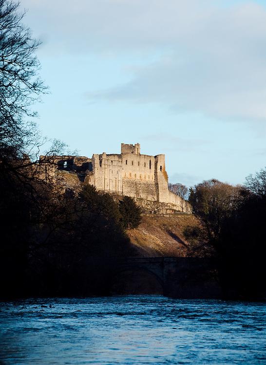 A view of Richmond Castle, Yorkshire