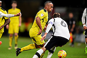 Burton Albion forward, on loan from Brighton, Chris O'Grady (8) during the EFL Sky Bet Championship match between Derby County and Burton Albion at the Pride Park, Derby, England on 21 February 2017. Photo by Jon Hobley.