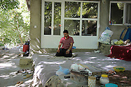 3/10/2012--Syagwez,Sulaimaniyah,Iraq-- Zmnako built a small house in their garden where they can rest and pray.