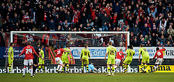 LONDON, ENGLAND - Saturday, January 30, 2010: Charlton Athletic's Nicky Bailey equalises to make it 1-1 as a Tranmere Rovers' defence look dejected during the Football League One match at the Valley. (Photo by Gareth Davies/Propaganda)