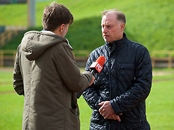 BARRY, WALES - Thursday, October 3, 2019: Wales Under-21 manager Paul Bodin speaks to the media after a press conference announcing the senior squad for the UEFA Euro 2020 Qualifying Group E qualifying matches against Slovakia and Croatia. (Pic by David Rawcliffe/Propaganda)