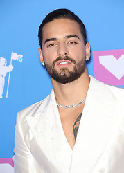 August 21, 2018 - New York City, New York, USA - 8/20/18.Maluma at the 2018 MTV Video Music Awards held at Radio City Music Hall in New York City..(NYC) (Credit Image: © Starmax/Newscom via ZUMA Press)