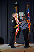 Chief Powers presents department awards.
