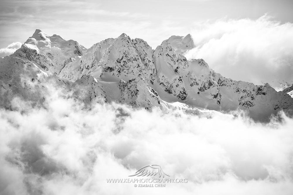 Southern Alps, Fiordland, New Zealand