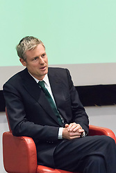 Royal Society of Medicine, London, March 4th 2016. Conservative Party mayoral candidate Zac Goldsmit at the Greener London Mayoral hustings held at the Royal Society of Medicine in London. ///FOR LICENCING CONTACT: paul@pauldaveycreative.co.uk TEL:+44 (0) 7966 016 296 or +44 (0) 20 8969 6875. ©2015 Paul R Davey. All rights reserved.