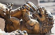 Metal sculpture in the Forbidden CIty in Bejing.