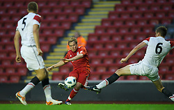 LIVERPOOL, ENGLAND - Thursday, May 5, 2011: Liverpool's Stephen Irwin in action against Manchester United during the FA Premiership Reserves League (Northern Division) match at Anfield. (Photo by David Rawcliffe/Propaganda)
