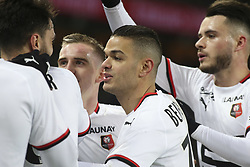 January 27, 2019 - Paris, France - Joie - Hatem Ben Arfa (Rennes) - Clement Grenier (Rennes) - Benjamin Bourigeaud  (Credit Image: © Panoramic via ZUMA Press)