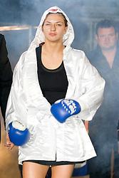 German boxer Christina Hammer at WIBF WM, Christina Hammer, GER und Mihaela Dragan, ROM, on September 4, 2010, in Ljubljana, Slovenia. (Photo by Matic Klansek Velej / Sportida)