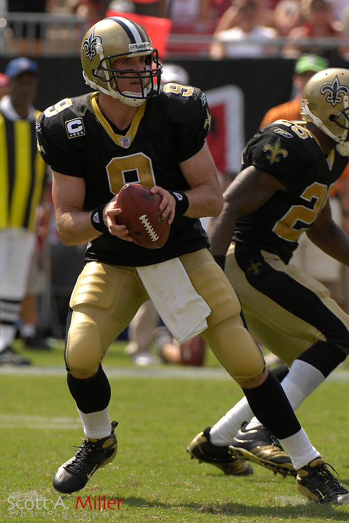 Sep 16, 2007; Tampa, FL, USA; New Orleans Saints quarterback (12) Drew Brees during his team's 31-14 loss to the Tampa Bay Buccaneers at Raymond James Stadium. Tampa Bay won the game 31-14. ..©2007 Scott A. Miller