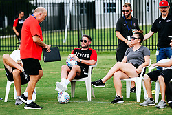 Bristol City manager Lee Johnson looks on during a head tennis session in the afternoon of day 5 - Rogan/JMP - 15/07/2019 - IMG Academy, Bradenton - Florida, USA - Bristol City Pre-Season Tour Day 5.