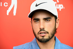 October 12, 2018 - Kuala Lumpur, Malaysia - Abraham Ancer of Mexico takes an interview with media during the second round of the CIMB Classic at TPC Kuala Lumpur on 12 October, 2018 in Kuala Lumpur, Malaysia  (Credit Image: © Chris Jung/NurPhoto via ZUMA Press)