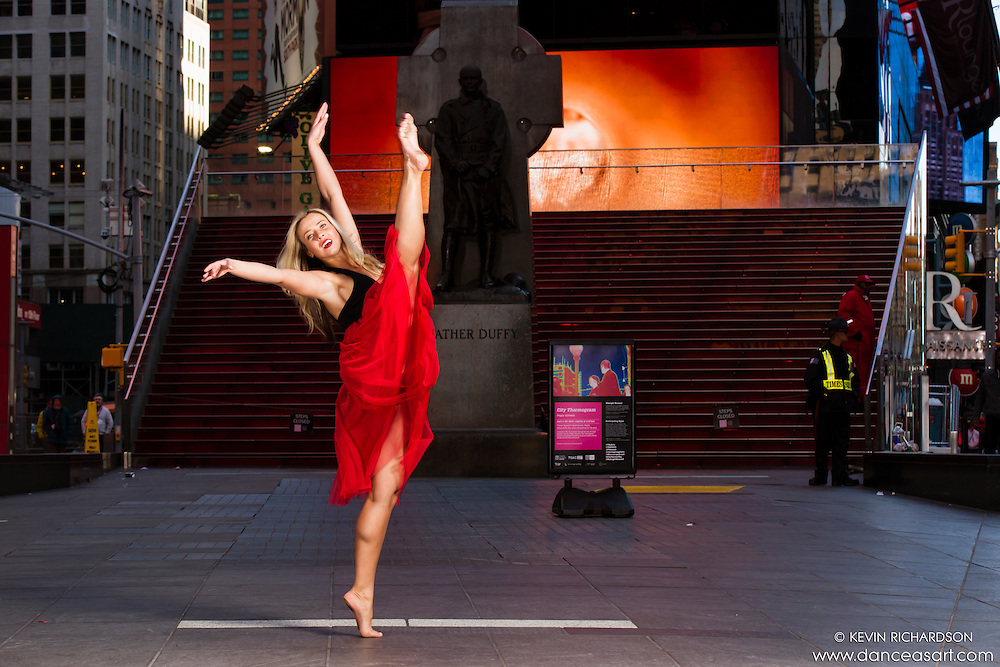 Dance As Art Times Square Dance Photography with Kristina Zivokic