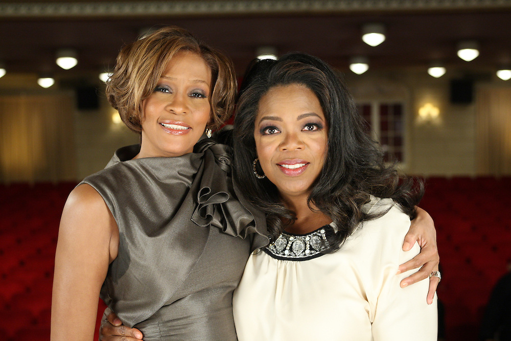 8-31-2009 - Oprah Winfrey & Whitney Houston interview at the Town Hall in NYC