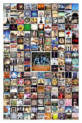Paris, Texas collage prints.