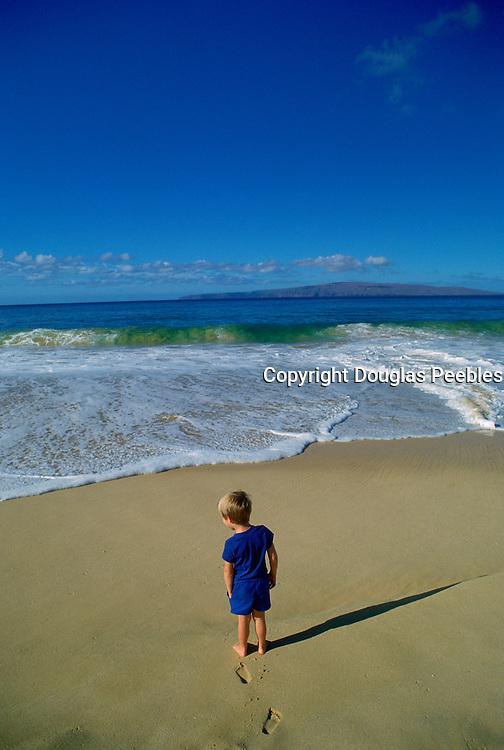 Child on Beach, Makena, MauiHawaii<br />