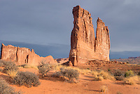 Courthouse Buttes Arches National Park Utah USA