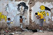Graffiti in Athens, Greece. Artist:  b.