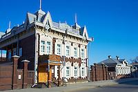 Russie, Siberie, Fédération de Irkoutsk, Irkoutsk,  architecture de bois du XIXè siècle, la Maison de l'Europe // Russia, Siberia, Irkutsk, wooden architecture, The House of Europe