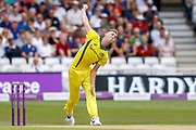 Australia ODI bowler Billy Stanlake bowls during the third Royal London One Day International match between England and Australia at Trent Bridge, West Bridgford, United Kingdom on 19 June 2018. Picture by Simon Davies.