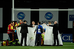 January 8, 2018 - Nanterre, Hauts de Seine, France - Clermont Wing SAMUEL EZEALA came out knockout after a strong concussion during the French rugby championship Top 14 match between Racing Metro 92 and Clermont at U Arena Stadium in Nanterre - France.Racing won 58-6 (Credit Image: © Pierre Stevenin via ZUMA Wire)
