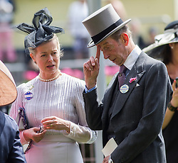The Duke of Kent with his daughter Lady Helen Taylor at Royal Ascot. Image ©Licensed to i-Images Picture Agency. 20/06/2014. Ascot, United Kingdom. Royal Ascot. Ascot Racecourse. Picture by i-Images