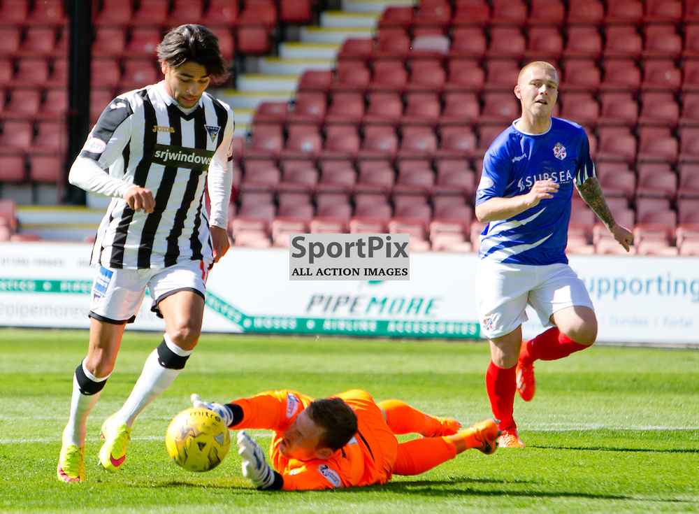 Dunfermline Athletic v Cowdenbeath SPFL League One Season 2015/16 East End Park 15 August 2015<br /> Faissal El Bakhtaoui rounds the keeper to make it 2-0<br /> CRAIG BROWN | sportPix.org.uk
