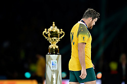 Adam Ashley-Cooper of Australia passes by the Webb Ellis Cup - Mandatory byline: Patrick Khachfe/JMP - 07966 386802 - 31/10/2015 - RUGBY UNION - Twickenham Stadium - London, England - New Zealand v Australia - Rugby World Cup 2015 Final.