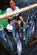 Fish seller, Cook Islands