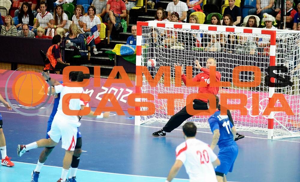 DESCRIZIONE : France Handball Jeux Olympiques Londres GIOCATORE : Omeyer Thierry FRA SQUADRA : France Homme DATA : 2012-08-02CATEGORIA : SPORT : HandBall AUTORE : AGENZIA CIAMILLO & CASTORIA/G.Ciamillo