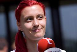Nina Kolaric at press conference of Slovenian National Team before Athletics World Championships in Berlin,  on August 10, 2009, in Ljubljana, Slovenia. (Photo by Vid Ponikvar / Sportida)