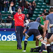 Paul Gustard during the warm up, England v France in a RBS 6 Nations match at Twickenham Stadium, London, England, on 4th February 2017.