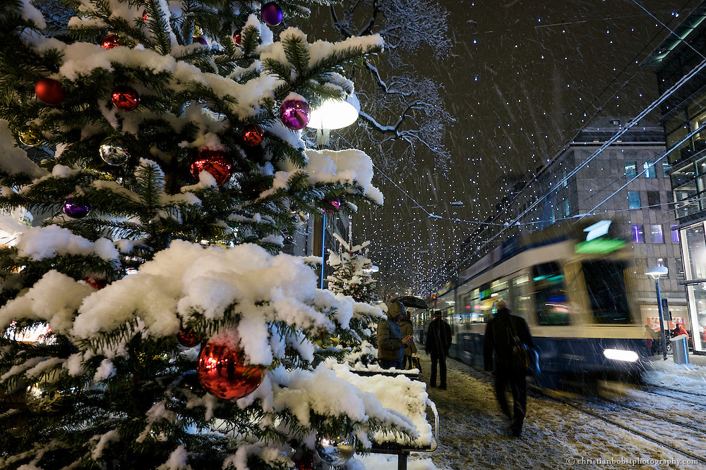 Christmas tree at Christmas Market, Bahnhofstrasse, Zürich