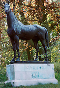 Bronze statue of King Tom horse at  Mentmore Towers stately home Buckinghamshire, UK