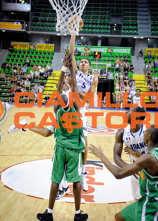 DESCRIZIONE : Tournoi Villeurbanne Preparation Championnat du monde France Cote d'Ivoire<br /> GIOCATORE : Batum Nicolas<br /> SQUADRA : France<br /> EVENTO : France Basket Homme 2010<br /> GARA : France Cote d' Ivoire<br /> DATA : 22/08/2010<br /> CATEGORIA : Basketball Action Homme<br /> SPORT : Basketball<br /> AUTORE : JF Molliere FFBB par Agenzia Ciamillo-Castoria <br /> Galleria : France Basket Action Homme 2010 <br /> Fotonotizia : Tournoi Villeurbanne Preparation Championnat du monde France Cote D'Ivoire<br /> Predefinita :