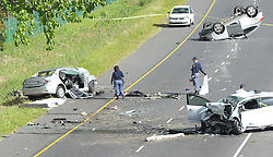 Three man have been killed and four others injured this afternoon after three vehicles collided on the M3 near the Firgrove turn-off in Constantiaberg, Western Cape.<br /> ER24 paramedics, along with various other services, arrived on the scene and found one light motor vehicle lying overturned in the middle of the road. A second wrecked light motor vehicle lay on the side of the road while the third had come to a stop in the middle of the highway.<br /> On inspection of the vehicle of the side of the road, paramedics discovered four men lying trapped. Unfortunately, three man had already succumbed to their multiple, fatal injuries. Nothing could be done for them and they were declared dead on the scene.<br /> The fourth man, also trapped, was found to have sustained numerous injuries, leaving him in a critical condition.<br /> Rescue services had to use the jaws-of-life equipment to free the man before treatment could continue.<br /> Three other patients were found on scene, including a 5-year-old boy. All these patients were found to have sustained minor to moderate injuries.<br /> Paramedics treated the patients and provided the critically injured with advanced life support interventions. Once treated, the patients were transported to various hospitals for urgent treatment.<br /> It is believed that the driver of one vehicle apparently lost control, causing his vehicle to roll into the oncoming traffic and collide with the other vehicles.<br /> Local authorities were on scene for further investigations.