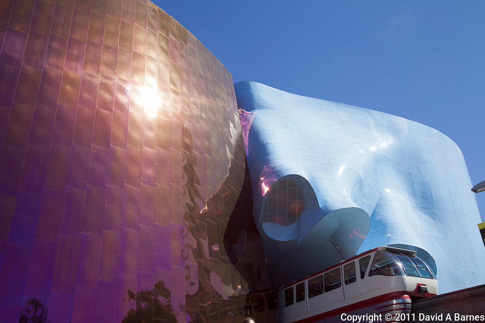 Experience Music Project by France Gehry, monorail, Seattle, Washington, USA