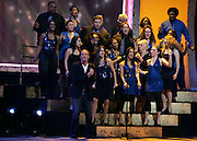 Michael Bolton and the New Haven Clash Choir onstage during the NBC 'Clash Of The Choirs' full show rehearsal at Steiner Studios in Brooklyn, New York City, USA on December 16, 2007.