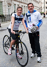 Sally Gunnell and cyclist Chris Boardman