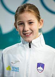 Zala Vnuk during photo session of best U12 Slovenian tennis players, on January 19, 2019 in TK Triglav, Kranj, Slovenia. Photo by Vid Ponikvar / Sportida