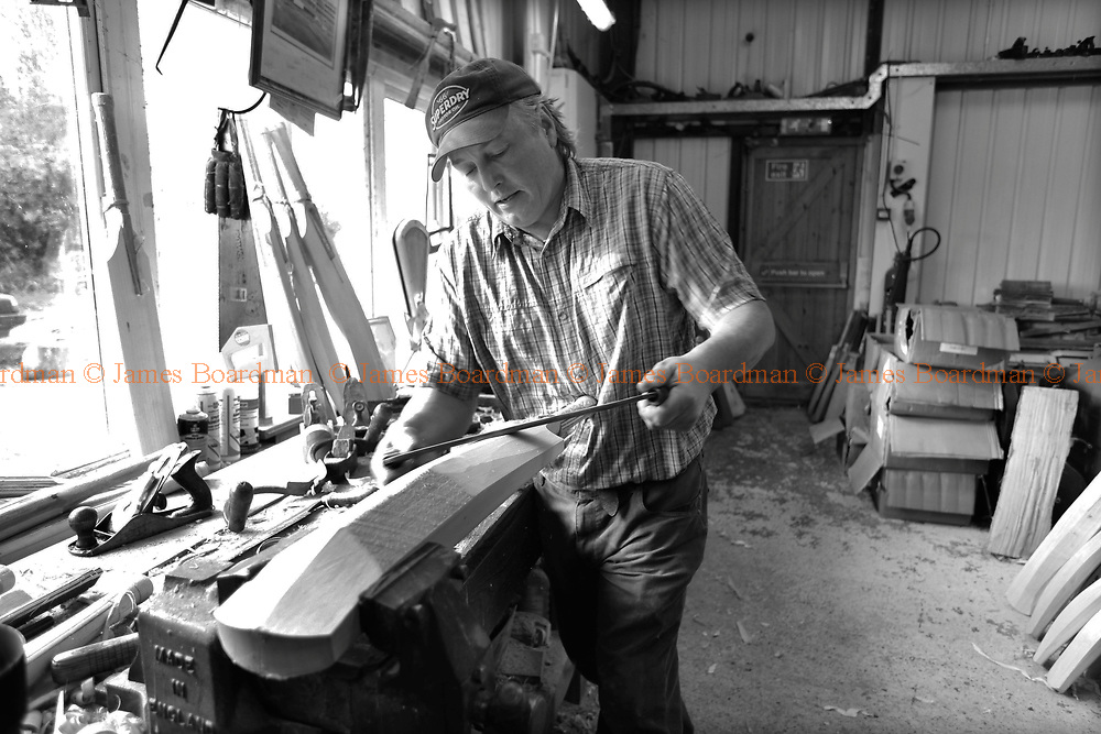 JAMES BOARDMAN / 07967642437.Tim of Newbery Cricket Bat at there Ashburnham workshop in East Sussex.