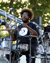 Philly 4th of July Jam with the Roots, Benjamin Franklin Parkway, Philadelphia, PA USA - July 4, 2013; Ben Taylor, Jill Scott, Grace Potter, Hunter Hayes, J.Cole, John Mayer and Ne-yo take the stage with Questlove and the Roots for the annual free concert to celebrate Independence Day on the Parkway.<br /> <br /> Drummer Ahmir Khalib Thompson (Questlove) of the Roots.