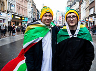 South Africa fans before the match<br /> <br /> Photographer Simon King/Replay Images<br /> <br /> Under Armour Series - Wales v South Africa - Saturday 24th November 2018 - Principality Stadium - Cardiff<br /> <br /> World Copyright &copy; Replay Images . All rights reserved. info@replayimages.co.uk - http://replayimages.co.uk