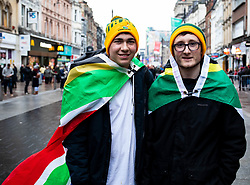 South Africa fans before the match<br /> <br /> Photographer Simon King/Replay Images<br /> <br /> Under Armour Series - Wales v South Africa - Saturday 24th November 2018 - Principality Stadium - Cardiff<br /> <br /> World Copyright © Replay Images . All rights reserved. info@replayimages.co.uk - http://replayimages.co.uk