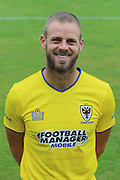 Jason Moriarty Team Fitness Coach at AFC Wimbledon Team Photo 02AUG16 at the Cherry Red Records Stadium, Kingston, England on 2 August 2016. Photo by Stuart Butcher.