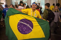 June 23, 2018 - Moscou, Moscow region, Russia - Football fans from Brazil in Moscow at the world Cup 2018  (Credit Image: © Aleksei Sukhorukov via ZUMA Wire)