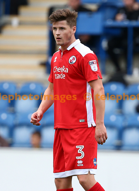 Crawley's Josh Doherty during the Sky Bet League 2 match between Colchester United and Crawley Town at the Weston Homes Community Stadium in Colchester. 09 Sep 2017