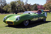 ARCADIA, CALIFORNIA, USA, SEPTEMBER 6, 2013. Spyders in the Garden car show at the Los Angeles Arboretum on September 6, 2013. A race prepared street legal 1957 Lotus Eleven made 0-60mph in 5.3 seconds