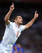 Frank Lampard Celebrates Scoring 1st goal.England 2009/10.England V Croatia (5-1) 09/09/09 .World Cup Qualifier 2010 at Wembley Stadium.